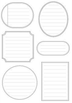 Free Printable Labels as journal notes. Printable Labels, Printable Paper, Free Printables, Labels Free, Blank Labels, Pocket Letter, Tampons, Vintage Diy, Smash Book
