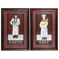 Urban Designs The Resturant 2 Piece Framed Graphic Art Set