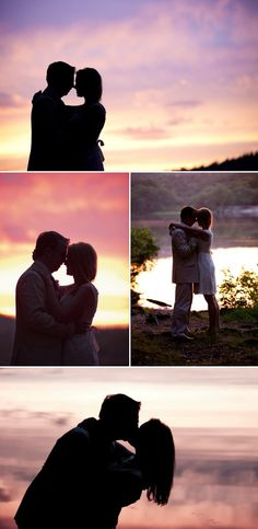 sunset wedding shots