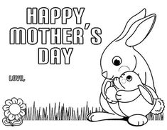 Homemade Mother's Day coloring pages and cards for kids. Make your world more colorful with free printable coloring pages from italks. Our free coloring pages for adults and kids. Happy Mothers Day Images, First Mothers Day, Happy Mother S Day, Mothers Day Cards, Cartoon Coloring Pages, Coloring Pages To Print, Coloring Book Pages, Printable Coloring Pages, Mothers Day Coloring Sheets