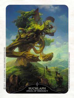 Angelarium Oracle of Emanations de Eli Minaya et Peter Mohrbacher Angel Of Vengeance, Angel Of Death, Azazel Angel, Fantasy World, Fantasy Art, Peter Mohrbacher, Dark Songs, Archangel Gabriel, Monster Art