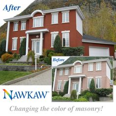 Nawkaw stain used on this house in Quebec.