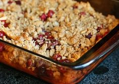 Apple Cranberry Crisp! Perfect for the cool weather of fall!