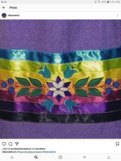 Floral ribbon skirt