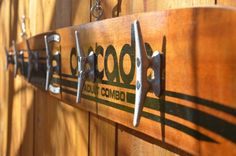 casCade an upcycled vintage water ski towel rack