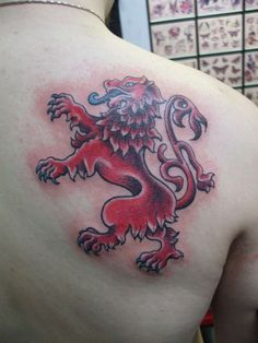 rampant lion, not usually a girl tattoo but I want