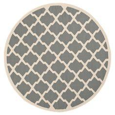 $61.99 Safavieh Malaga Patio Rug - Anthracite / Beige (4' X 4' Square) : Target
