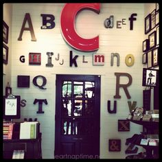 wall of letters #decor