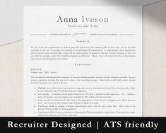 One Page Resume Template, Modern Resume Template, Cv Template, Resume Templates, Cover Letter Design, Cover Letter Template, Letter Templates, Marketing Resume, Marketing Jobs