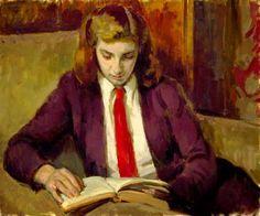 Henry Lamb   Henrietta Reading (1949).