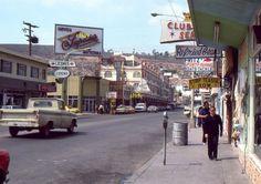 35mm Slide Street Scene Ensenata Mexico La Cenicienta del Pacífico Taxis Ads