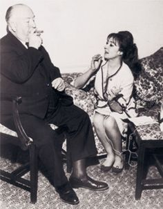 Oriana and Alfred Hitchcock