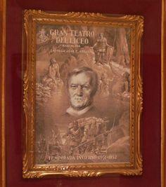 Cartel original de la temporada 51-52 del Gran Teatre del Liceu (Barcelona), de Josep Mestres Cabanes