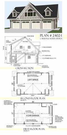 Garage Plans By Behm Design Carriage house plan 2402-1