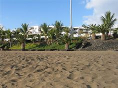 A beach in Puerto del Carmen, Lanzarote, Canary Islands (Spain)