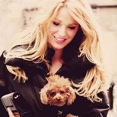 Blake Lively...I wish to look like her, have her hair and her dog!!