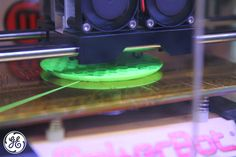 Can you guess what our printer is making? Garages, Three Dimensional, 3d Printer, Inventions, 3 D, Printing, Green, How To Make, Garage