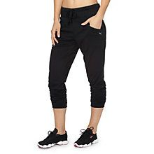 Relaxed fit? Yes. Relaxed workout? Not in these pants.  Made with your freedom of movement in mind, these studio pants let you take your workout to seriously intense levels. And, don't worry about breaking a sweat.  With a dryCELL designation, moisture is wicked away leaving you feeling dry and comfortable.   Features:   100% Polyester  Wide elastic waistband with draw cord for comfort and styleLoose fit with closed cuffs for optimized freedom of movement  Two front pockets  dryCELL ...