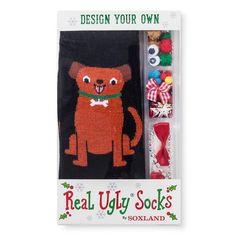 Real Ugly™ Socks Women's Build Your Own Kit - Dog - Black 9-11 : Target