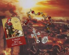 Unbreakable Relic Chaplet of St. Florian of Lorch - Patron Saint of Firefighters, Chimney Sweeps, Brewers and Against Drowning & Floods by foodforthesoul on Etsy