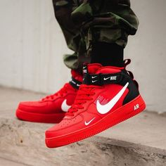 watch 5a4e9 6e0a0 Nike Air Force 1 Mid  07 LV8 Rouge   Noir  force  rouge