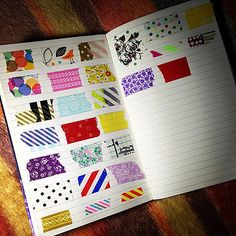 A personal washi tape catalogue for keeping track of your collection.   ...yeah, I actually do need to do that. ._.