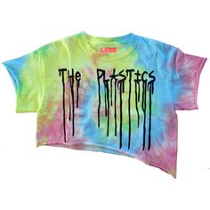The Plastics Rainbow Crop Top (44 AUD) ❤ liked on Polyvore featuring tops, shirts, crop tops, crop, rainbow tie dye shirt, tie dye tops, tie dyed shirts, neon tie dye shirts and neon shirts