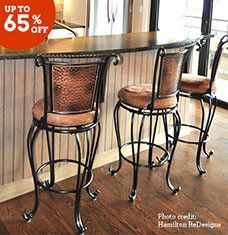 Give your kitchen, family room, or patio a style boost with our best-selling barstools. Whether they're placed beside a kitchen island or grouped around a high-top table, they'll create a warm, casual spot for dining and entertaining. From traditional oak finishes to elegant metal frames, these styles will appeal to every taste.