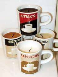 """Coffee Candles... why didn""""t I think of that! I LOVE THIS!!"""