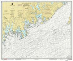 "Quoddy Narrows to Petit Manan Island - 1986 Nautical Map - 80000 AC Reprint - Chart 1201. A charming nautical chart titled ""Quoddy Narrows to Petit Manan Island"" published by the U.S Coast & Geodetic Survey. The area covered includes Machias Bay, Englishman Bay, and Pleasant Bay. The map shows water depths, and nautical features, and some landmarks. Original size 36"" x 43"". We offer this map reprint in the original and reduced sizes. Text is difficult to read in smaller sizes. Printed in..."