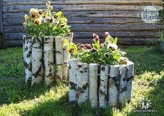 22 Unusual Containers with Flowers to Add Fun to Summer Backyard Designs yard decorations, beautiful centerpieces for backyard designs