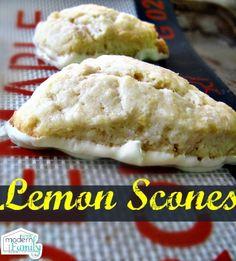 lemon scones  WITH white chocolate