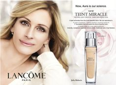 Controversial Celebrity Ad Campaigns (PHOTOS, VIDEO) : Julia Roberts Julia's Lancome ad was considered too heavily airbrushed to print by the ASA.