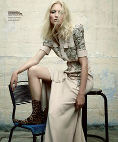 "Duchess Dior: ""Seams of Passion"" Melissa Tammerijn by Nicolas Valois for Harper's Bazaar Spain October 2014"