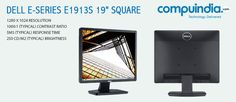 Enjoy clear, sharp pictures, easy connectivity and a thoughtful design on the #Dell E1913S!!! www.compuindia.com/accessories/monitors/dell-monitor-e1913s-19-square-monitor-vga-connectivity.html