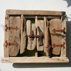 DRIFTWOOD CABINET/CUPBOARD antique hinges and latch. £73.00