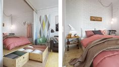 Functional Interior Designed with Soothing Pastel Colours in Moscow  #interior #small