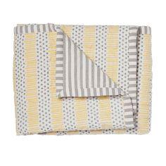 Petit Pehr - Grey/Yellow Quilted Nursery Blanket