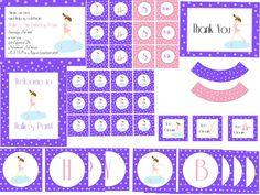 Purple Ice Skating Party Printable by TrishsDesignStudio