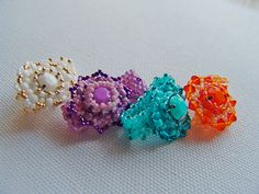 pastell stone rings