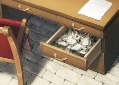 Levi's Desk (attack on titan)<< NOW THAT EVERYONE HAS SEEN THIS, NEVER SAY THAT LEVI HAS NO HEART. I WILL COME AFTER YOU WITH MY 3D MANEUVER GEAR, AND BEAT YOU DOWN. (Overactive feels begin)