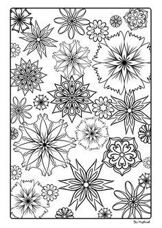 Flowers #mandala #zentangle #arttherapie #coloriageadulte #coloriagezen #coloriage Zentangle, Mandala, Creations, Doodles, Bullet Journal, Drawings, Prints, Art Therapy, Sketches