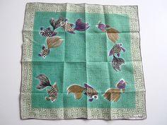 Vintage TAMMIS KEEFE Hankie Fish Handkerchief by NeatoKeen on Etsy