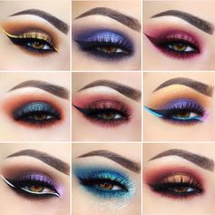 So many gorgeous eye looks to drool over! @giuliannaa 😍