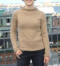 Nutmeg Raglan Sweater | AllFreeKnitting.com