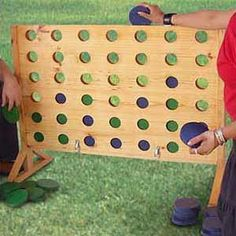 giant connect four I think I could figure out how to make this.