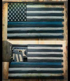 LEO Thin Blue Line Home Defense Concealment Flag - Rough Country Rustic Furniture & Decor