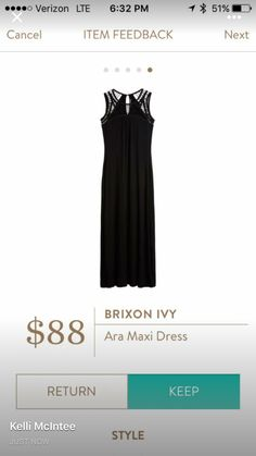 Stitch Fix Stylist: I have this-BUT I LOVE this maxi!  It's classic but has an edgy element which I love!