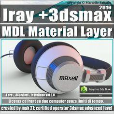 Iray Più 3ds max 2016 Layer MDL Presentazione