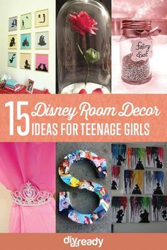 15 Enchanted DIY Teen Girl Room Ideas For Disney Fans | Beautiful Disney Crafts For Kids, Teens and Adults : http://diyready.com/15-diy-teen-girl-room-ideas-for-disney-fans/